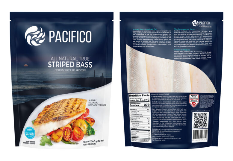 Packaging Design Pacifico Aquaculture